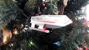 trek shuttle ornament featuring spock