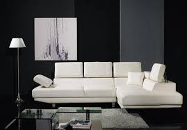 Black And White Sectional Sofa Cheap Simple White Leather Sectional Sofa Set Black And White