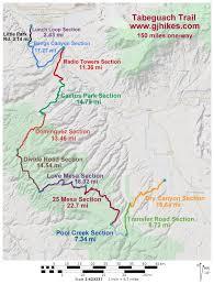 Delta Utah Map by Gjhikes Com Tabeguache Trail 12