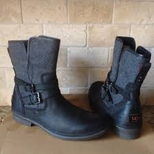 womens size 12 motorcycle boots ugg s black leather simmens boots size 12 ebay