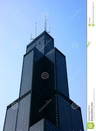 sears tower top from below stock image image 2450961