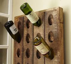 Wine Racks Wooden Rustic Free Woodworking Plans by French Wine Bottle Riddling Rack Pottery Barn
