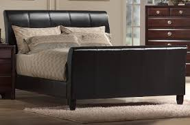 Black Leather Sleigh Bed Amazing Of Leather Sleigh Bed With Black Leather Sleigh Bed Black