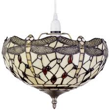 Coloured Chandelier by Tiffany Easy To Fit Ceiling Or Lamp Shade Multi Coloured