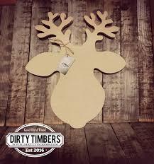 Holiday Decor Diy Reindeer Door Hanger Ready To Paint Christmas Decor Diy Blank