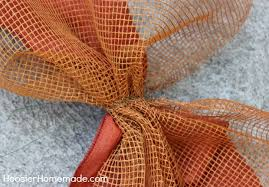 deco mesh ideas deco mesh fall garland tutorial hoosier