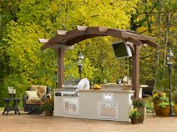 beautiful view yellow leaf tree for outdoor kitchen ideas with