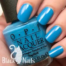 opi light blue nail polish opi no room for the blues full review swatch black cat nails