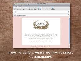 diy wedding wedding invitation email u2013 e m papers