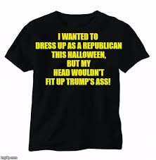 Republican Halloween Meme - image tagged in black t shirt imgflip