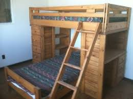 Bunk Beds Used Furniture Wood Bunk Bed With Desk Underneath 4 Jpg S Pi
