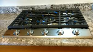 Gas Countertop Range Kitchen Cooktops Samsung Gas Cooktop Na30k7750ts Installation Youtube