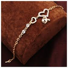 women bracelet heart images Heart shape charm bracelets gold plated jewelry for women fashion jpg