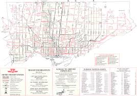 Toronto Subway Map Ttc System Maps Transit Toronto Content