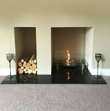 gravity bio ethanol glass fire in self built fireplace bio fires
