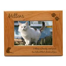 personalized cat 4x6 photo frame engraved cat picture frame