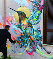 Cheap Spray Paint For Graffiti - figures of birds emerge from a kinetic flurry of spray paint