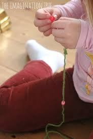 yarn and bead christmas tree craft the imagination tree