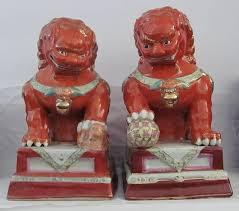orange foo dogs orange foo dogs pair collectors weekly