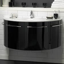 Hudson Reed Bathroom Furniture Hudson Reed Moon Wall Hung Vanity Unit With Ceramic Top Gloss
