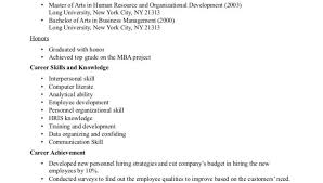 Resume Examples For Human Resources by Human Resources Resume Examples Human Resource Career Skills And