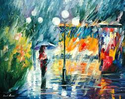 People Painting by Leonid Afremov Paint Oil Impressionism Abstract Couple Love