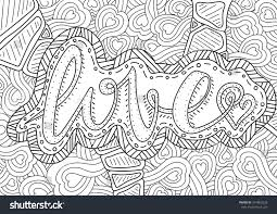 vector romantic pattern text love hearts stock vector 374803228