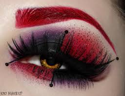 Black Eye Makeup For Halloween Awesome For A Red Joker Costume Or Just A Fun Night Out