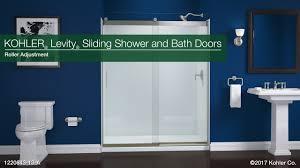 roller adjustment levity sliding shower and bath doors youtube