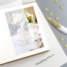 small leather photo album personalised golden wedding leather photo album by begolden