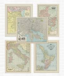 Vintage Map Imaginenations Customized City State And Country Vintage Maps