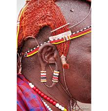 masai warrior ear ornament marty cohen photography