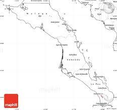 california map outline blank simple map of baja california sur