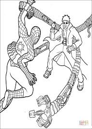 spider man doctor octopus coloring free printable