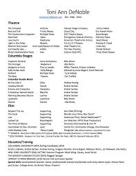 Examples Of Acting Resumes by Acting Resume Special Skills Examples Corpedo Com