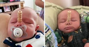 Challenge Nose And Dads Compete To See Who Can Stack More Cheerios On Their Babies