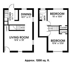 apartments floor plans 2 bedrooms 2 bedroom 1 bath apartments home design plan