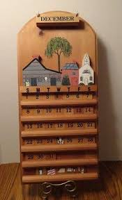 wooden calendars collection on ebay