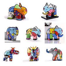 new romero britto all about elephants collection elephant on