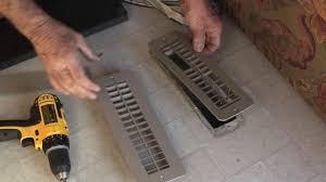 Floorregisters N Vents by Rv Heating Replace Floor Register Youtube