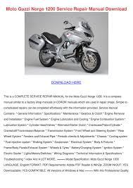 moto guzzi norge 1200 service repair manual d by nikoleoneill issuu