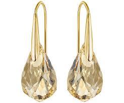 golden earrings energic pierced earrings golden gold plating jewelry