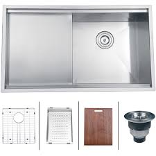 stainless sink with drainboard ruvati 16 gauge stainless steel 33 inch single bowl undermount