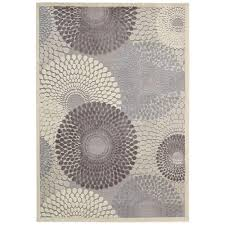 nourison graphic illusions grey 7 ft 9 in x 10 ft 10 in area