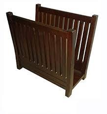 amazon com d art collection mahogany magazine rack home u0026 kitchen
