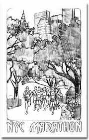 running past the 2003 new york city marathon poster