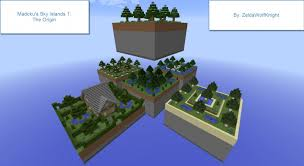 Challenge Origin Challenge Map Madoku S Sky Islands 1 The Origin 1 8 Minecraft