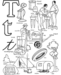words from t alphabet coloring page alphabet coloring pages of