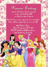 disney princess birthday party invitation templates princess