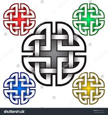 cruciform logo template celtic knots style stock vector 368147444